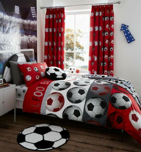 Catherine Lansfield Football Red Bedding Set
